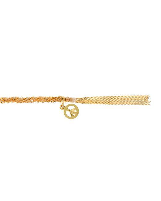 Carolina Bucci | Metallic Peace Charm Lucky Bracelet | Lyst