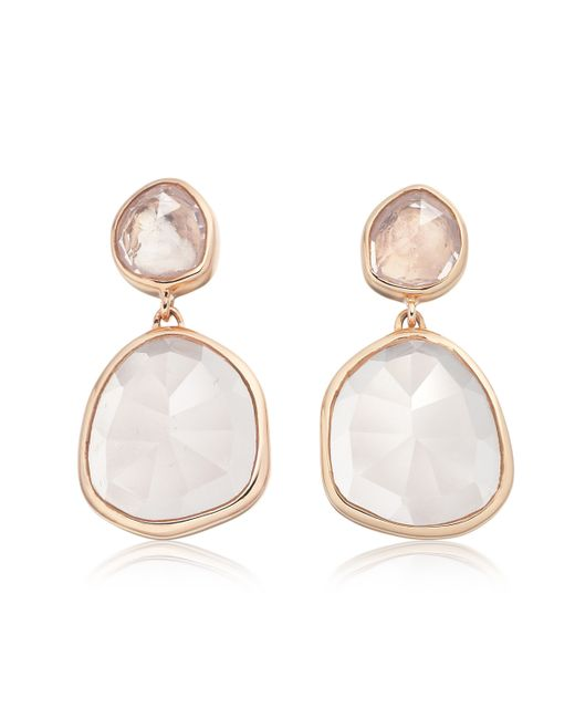 Monica Vinader | Pink Siren Medium Drop Earrings | Lyst