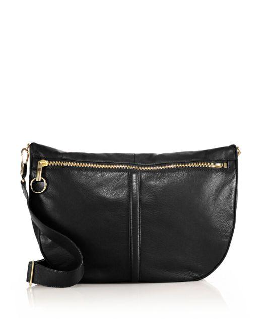 Elizabeth and James | Black Scott Leather Convertible Crossbody Hobo Bag | Lyst