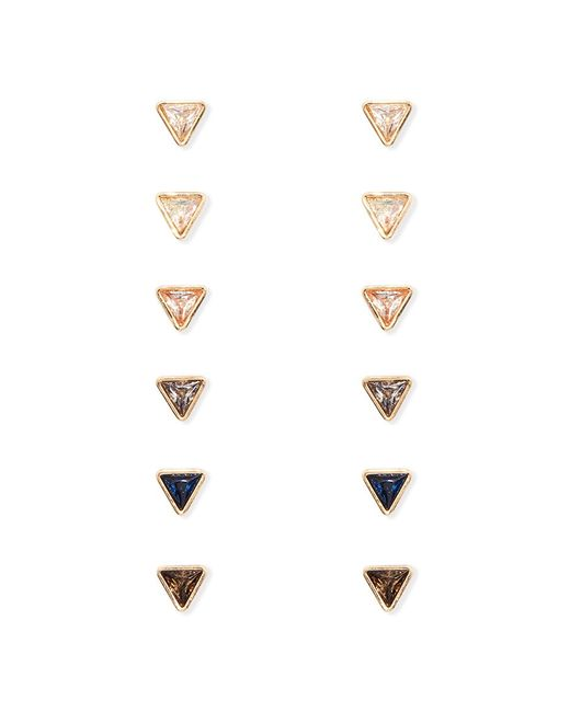 Forever 21 | Metallic Mixed Triangle Stud Set | Lyst