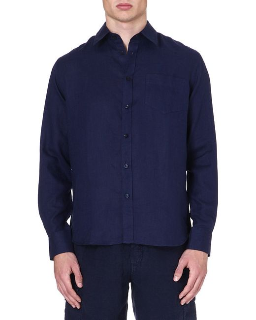 Vilebrequin | Blue Caroubier Linen Shirt for Men | Lyst