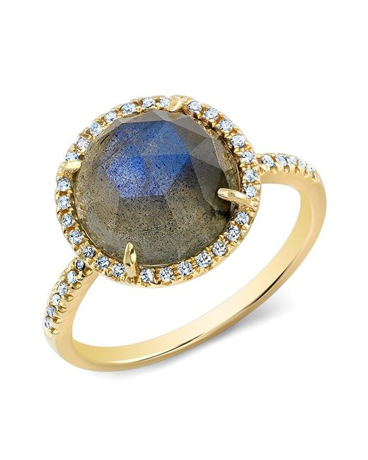 Anne Sisteron - Blue 14kt Yellow Gold Labradorite Diamond Cocktail Ring - Lyst