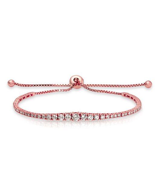 Anne Sisteron | Pink 14kt Rose Gold Diamond Tie Back Bracelet | Lyst