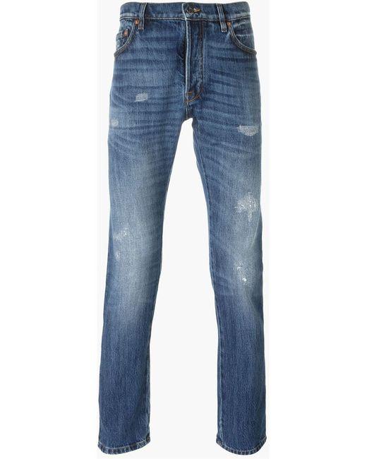 valentino slim fit jeans in blue for men lyst. Black Bedroom Furniture Sets. Home Design Ideas