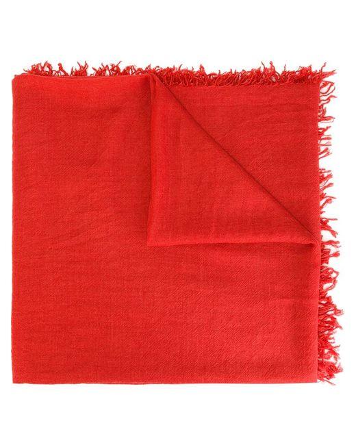 Faliero Sarti | Red Frayed Edge Scarf | Lyst