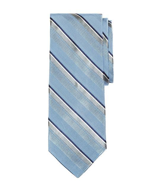 Brooks Brothers | Blue Satin Split Stripe Tie for Men | Lyst