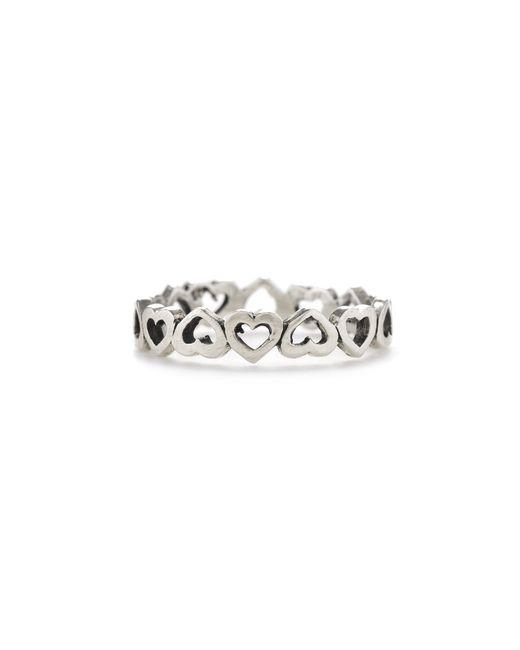 Bing Bang | Metallic Eternity Heart Ring | Lyst