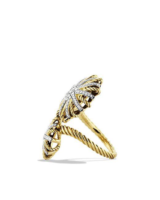 David Yurman   Metallic Starburst Open Ring With Diamonds In 18k Gold   Lyst