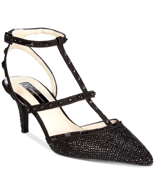 INC International Concepts | Black Carma Evening Kitten Heel Pumps | Lyst