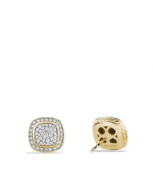 David Yurman | Metallic Albion Earrings With Diamonds In 18k Gold | Lyst