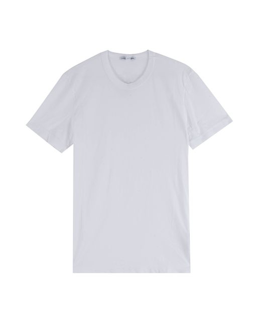 James perse basic t shirt in white for men lyst for James perse t shirts sale