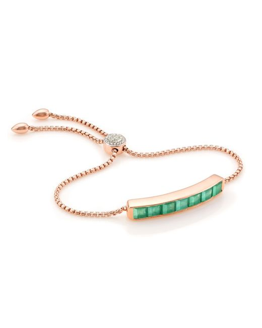 Monica Vinader | Green Baja Precious Bracelet | Lyst