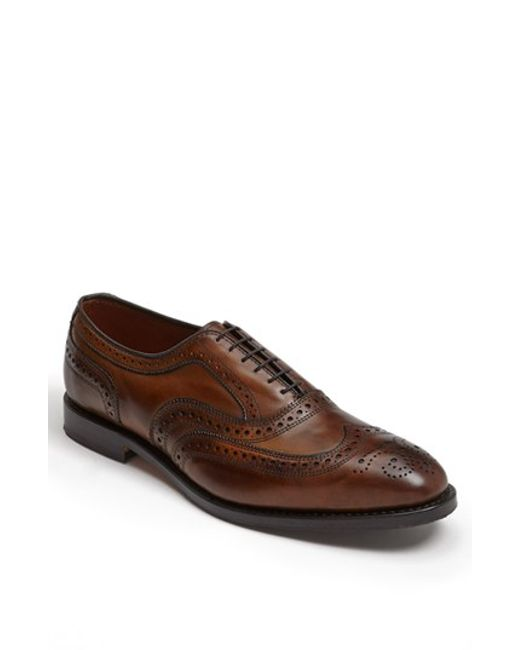 Allen Edmonds | Brown 'mcallister' Wingtip for Men | Lyst
