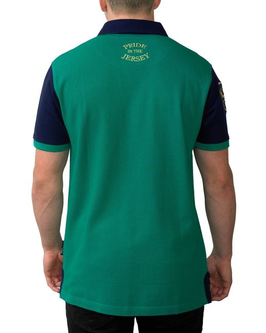 Ellis Rugby Irish Rugby Polo Shirt In Green For Men Save