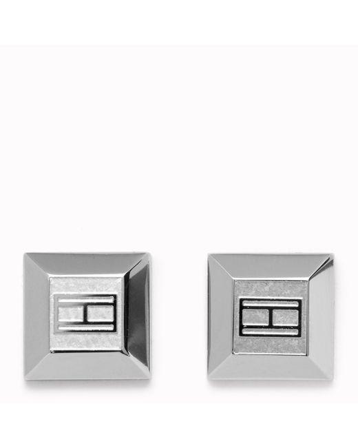 Tommy Hilfiger | Metallic Signature Earrings | Lyst