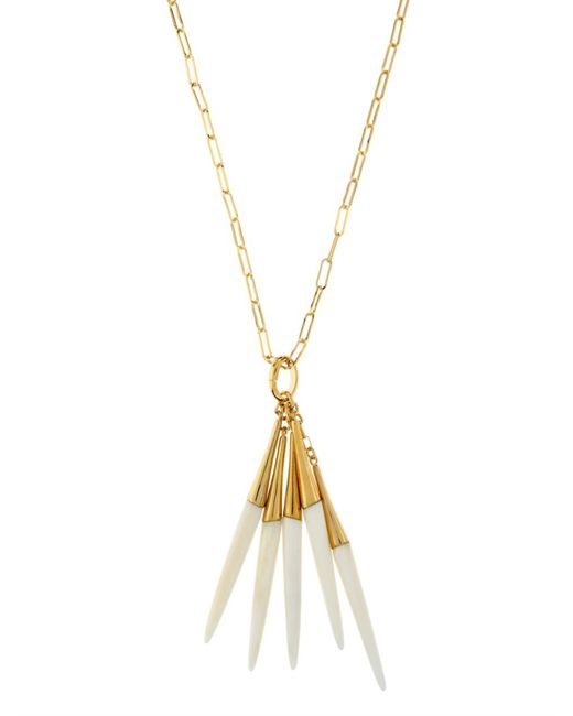 Isabel Marant | Metallic Cobain Buffalo Bone Necklace | Lyst