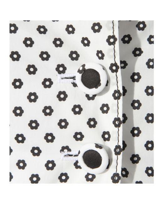 Oscar de la Renta | White Floral-Print Cotton Jacket | Lyst