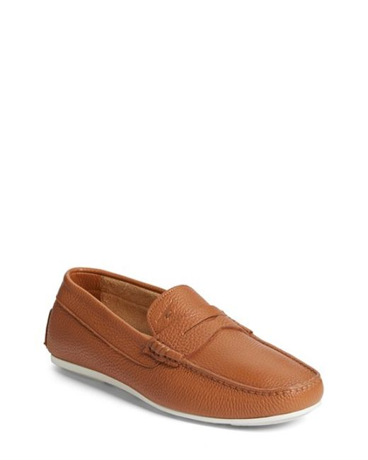Santoni | Brown 'tanton' Driving Shoe for Men | Lyst