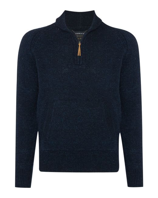 Howick | Blue Rambler Kangaroo Half-zip Jumper for Men | Lyst