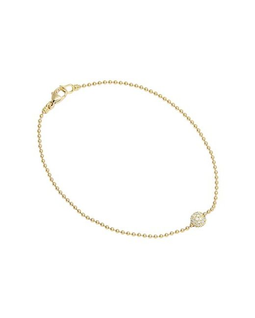 Lagos | Metallic 'covet' Diamond Pave Sphere Bracelet | Lyst