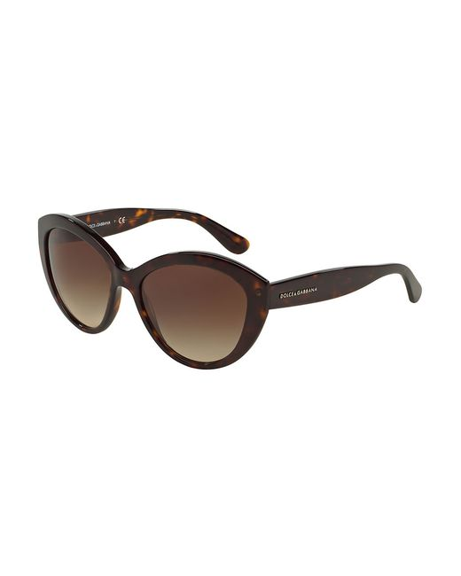 Dolce & Gabbana | Brown Polarized Cat-eye 56mm Sunglasses | Lyst
