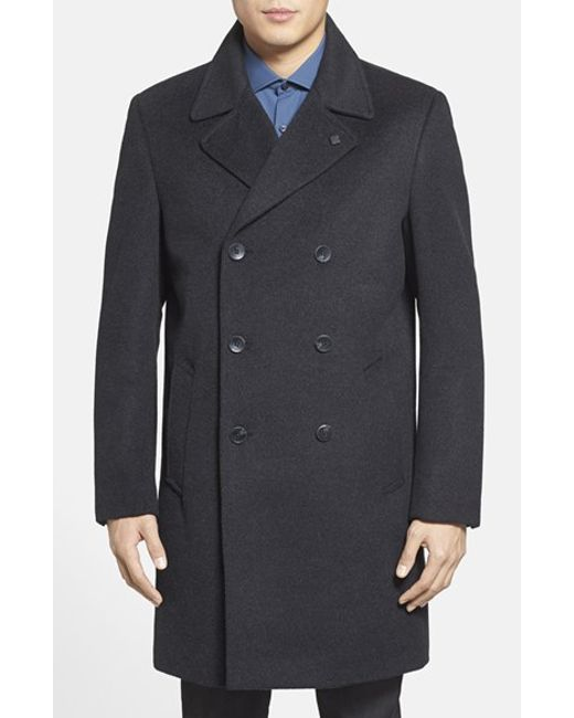 Vince Camuto | Gray Men'S Double Breasted Topcoat for Men | Lyst