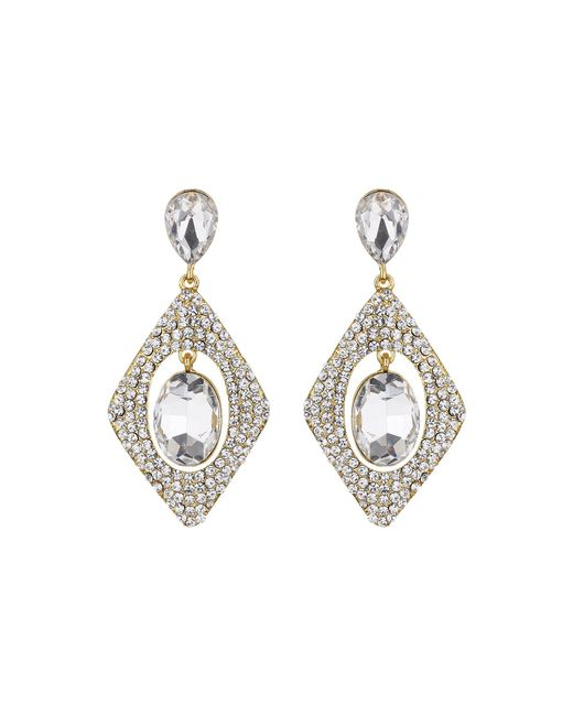Mikey | Multicolor Diamond Design Hanging Centre Earring | Lyst