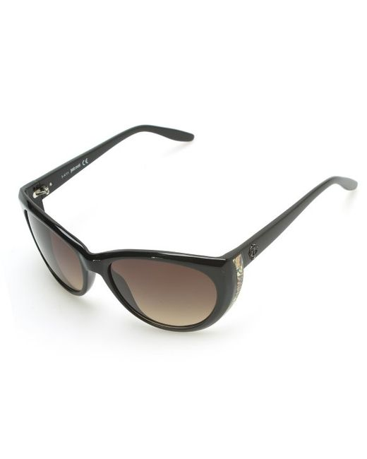 Just Cavalli | Women's Cheetah Oversized Sunglasses Black | Lyst
