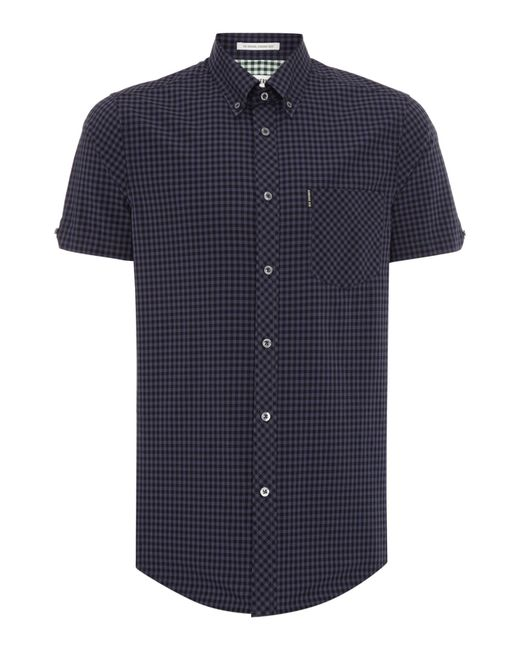 Ben Sherman | Black Classic Gingham Check Short Sleeve Shirt for Men | Lyst