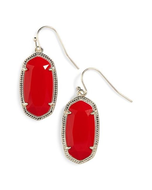 Kendra Scott | Red Elle Earrings | Lyst