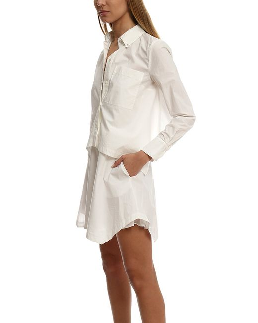 10 crosby derek lam layered shirt dress in white save 40 for Derek lam 10 crosby shirt dress