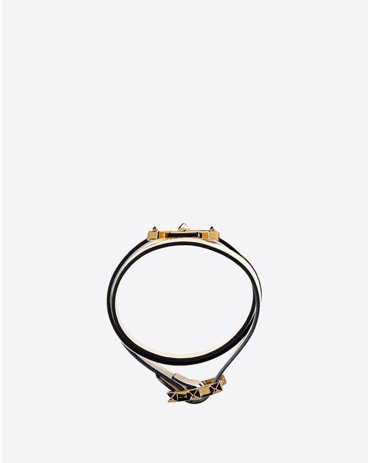 Valentino | White Bracelet With V Rockstud | Lyst