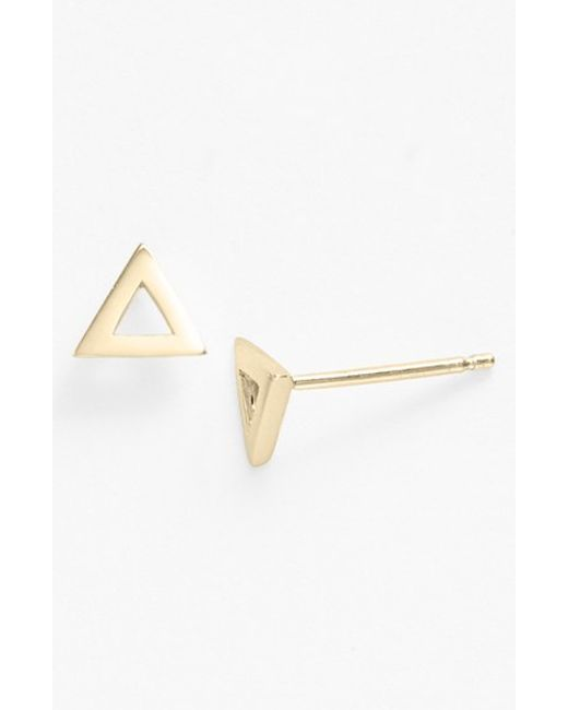 Bony Levy | Yellow Triangle Stud Earrings (nordstrom Exclusive) | Lyst