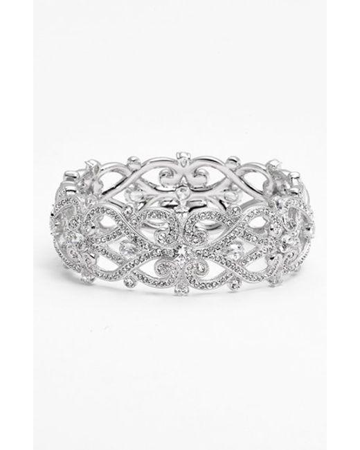 Nadri | Metallic 'celtic Knot' Crystal Bangle | Lyst