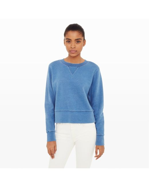 Image Result For Womens Crew Neck Sweatshirt Light Indigo Blue Spot