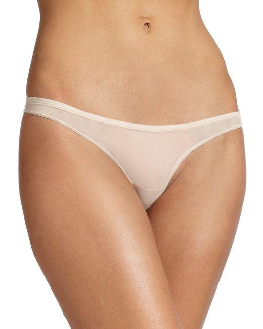 Skin | Beige Organic Pima Cotton Bikini Brief | Lyst