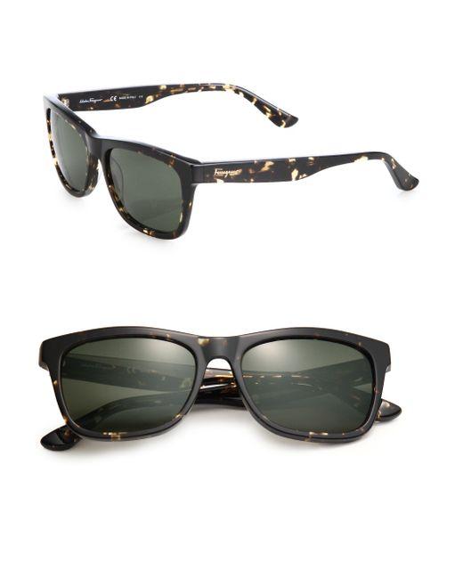 Ferragamo | Black 55mm Wayfarer Sunglasses for Men | Lyst