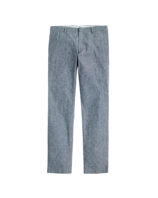 J.Crew | Gray Ludlow Suit Pant In Japanese Chambray for Men | Lyst