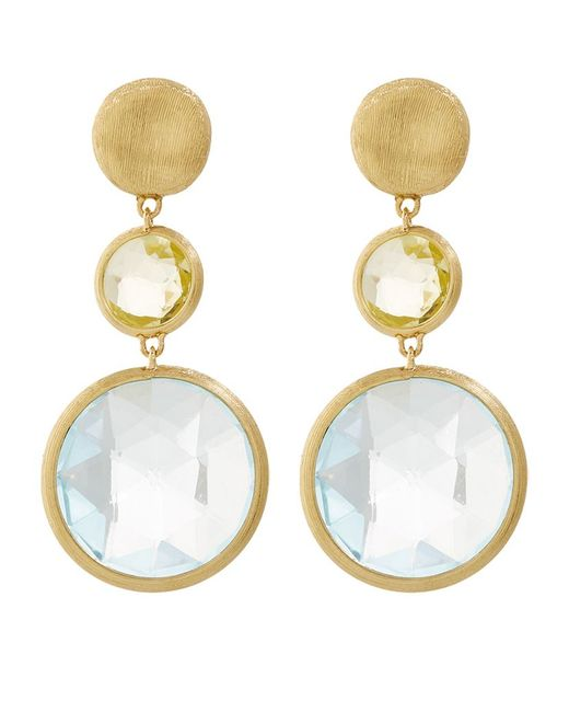 Marco Bicego | White Jaipur Gem Drop Earrings | Lyst