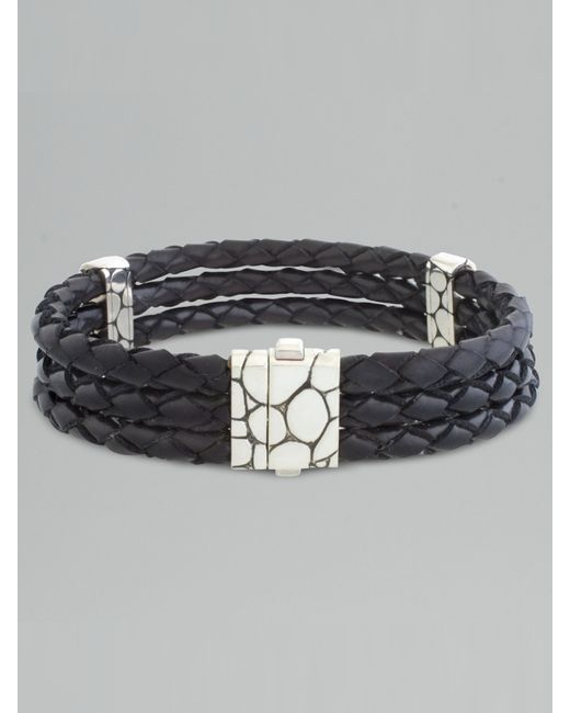 John Hardy | Metallic Kali Woven Leather Bracelet for Men | Lyst