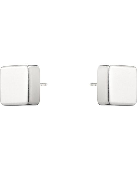 Georg Jensen | Metallic Aria Sterling Silver Square Earrings | Lyst