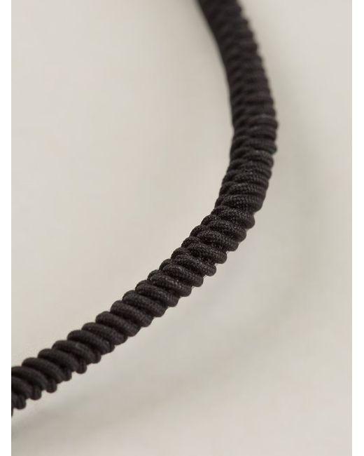 Luis Morais | Black 'trikona' Toggle Charm Bracelet for Men | Lyst