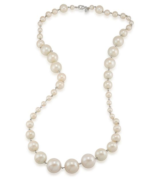 Carolee | White Picnic Pearl Graduated Necklace | Lyst