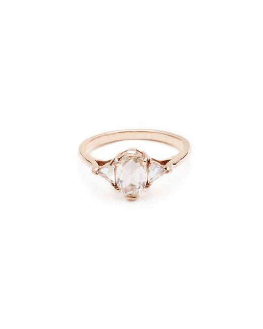 Anna Sheffield | Metallic Diamond Oval Bea Ring | Lyst