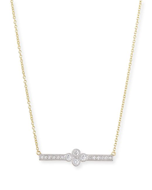 Jude Frances Provence Diamond Bar Station Necklace In Gold