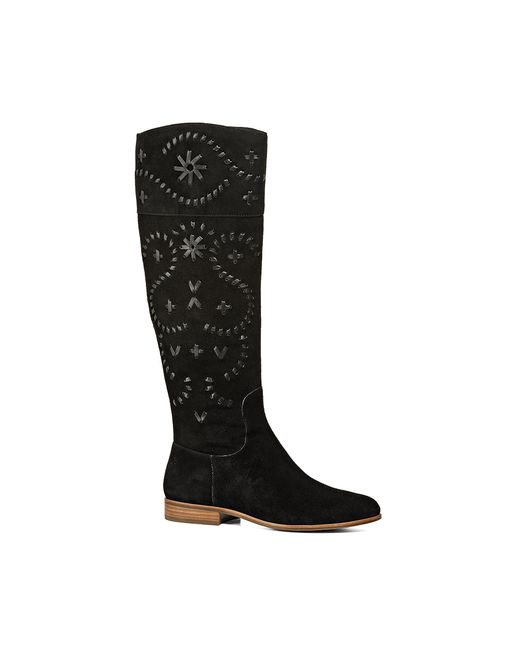 Jack Rogers | Black Tara Suede Riding Boot | Lyst