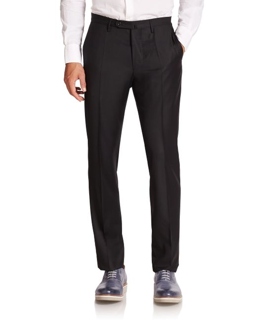 Incotex | Black Bill Luxe Twill Dress Pants for Men | Lyst