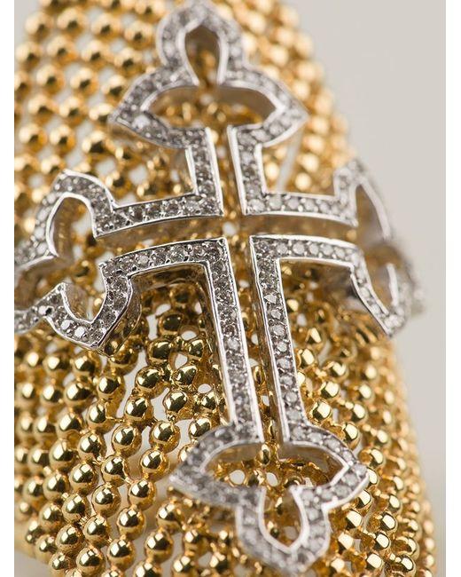 Nikos Koulis | Metallic Cross Ring | Lyst