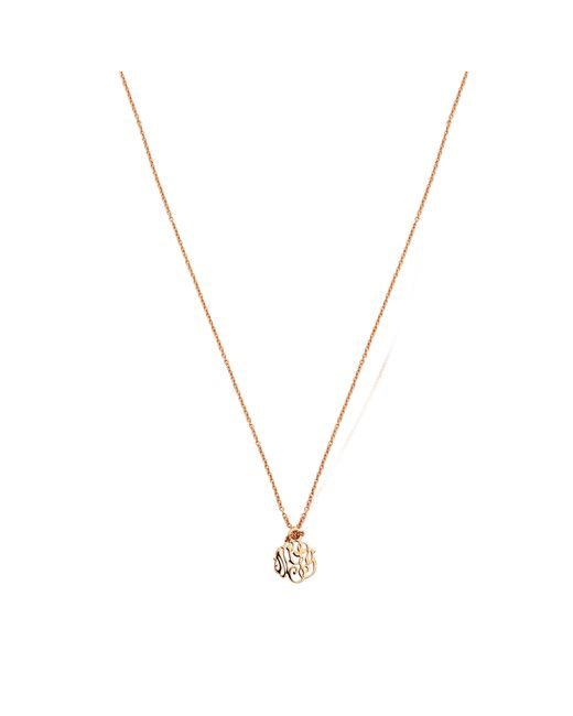 Ginette NY | Pink Mini Monogram Necklace | Lyst