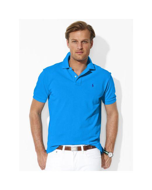 Polo Ralph Lauren   Blue Classic-fit Mesh Polo for Men   Lyst